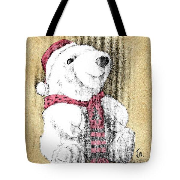 Holiday Bear Card Tote Bag