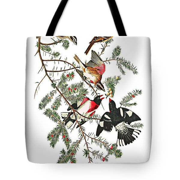 Tote Bag featuring the photograph Holiday Birds by Munir Alawi