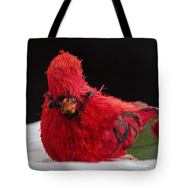 Holiday Cardinal Tote Bag