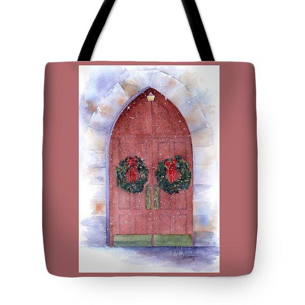 Holiday Chapel Tote Bag