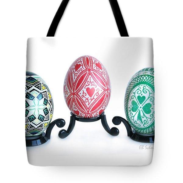 Holiday Eggs Tote Bag