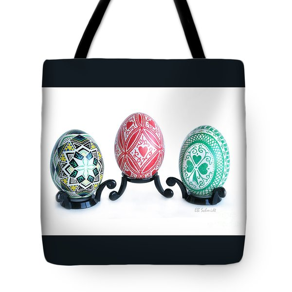 Holiday Eggs Tote Bag