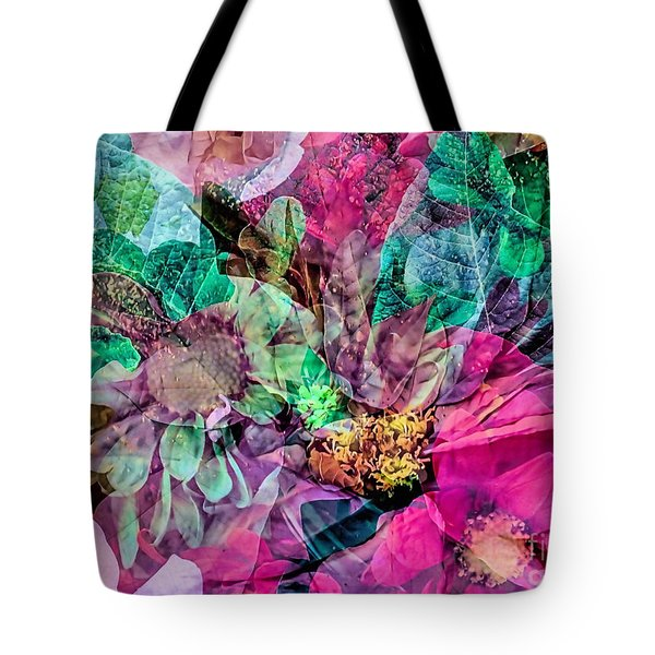 Holiday Floral Composite Tote Bag
