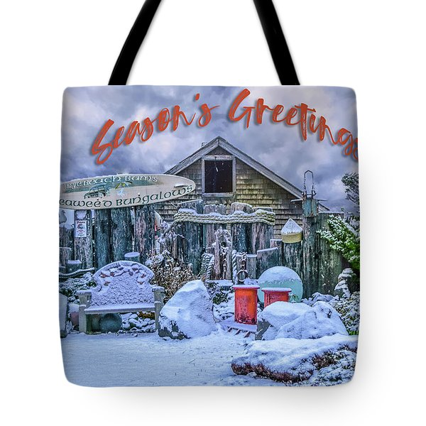 Holiday Greetings From Nye Beach Tote Bag