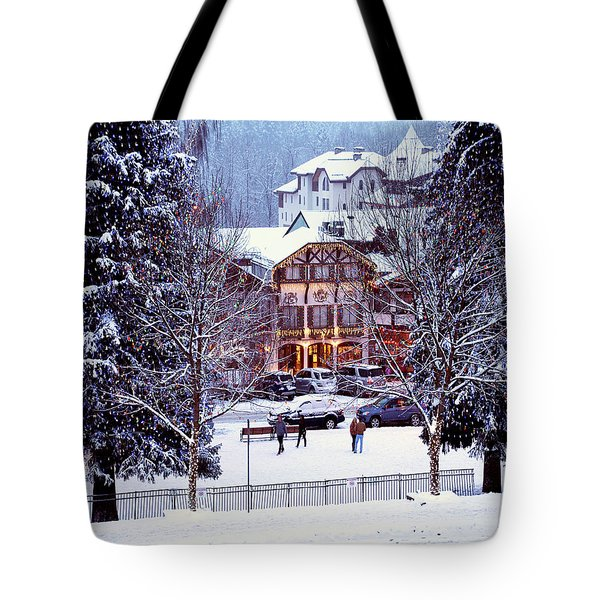 Holiday In The Village Tote Bag