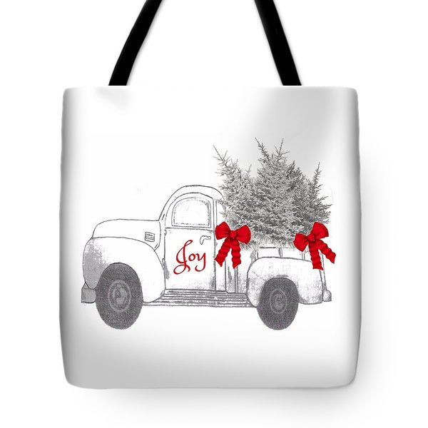 Tote Bag featuring the digital art Holiday Joy Chesilhurst Farm by Kim Kent