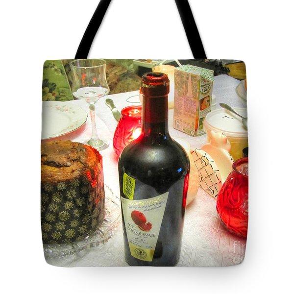 Tote Bag featuring the pyrography Holiday Natural Eat by Yury Bashkin