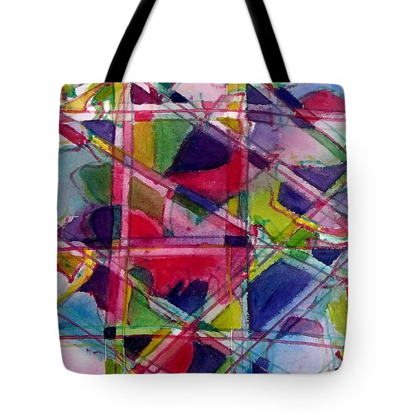 Holiday Rush Tote Bag by Jan Bennicoff