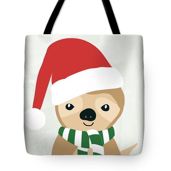 Holiday Sloth- Design By Linda Woods Tote Bag