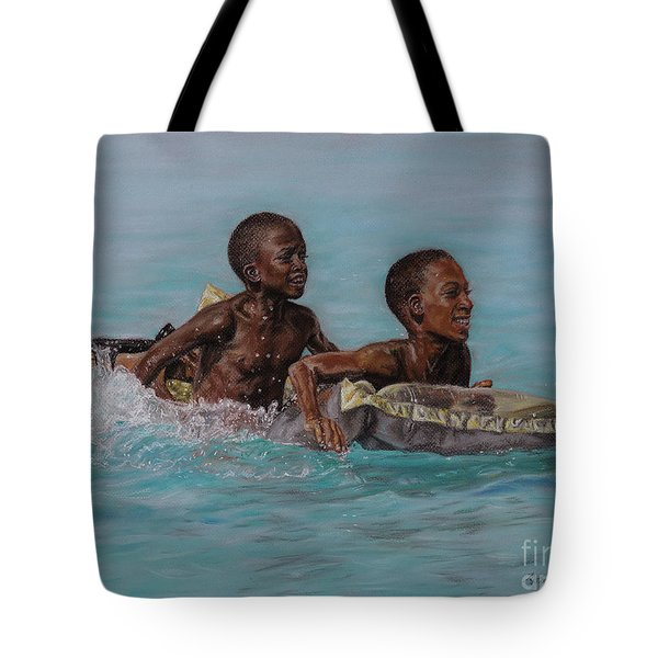 Holiday Splash Tote Bag