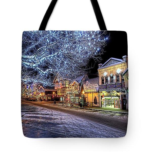 Holiday Village, Leavenworth, Wa Tote Bag