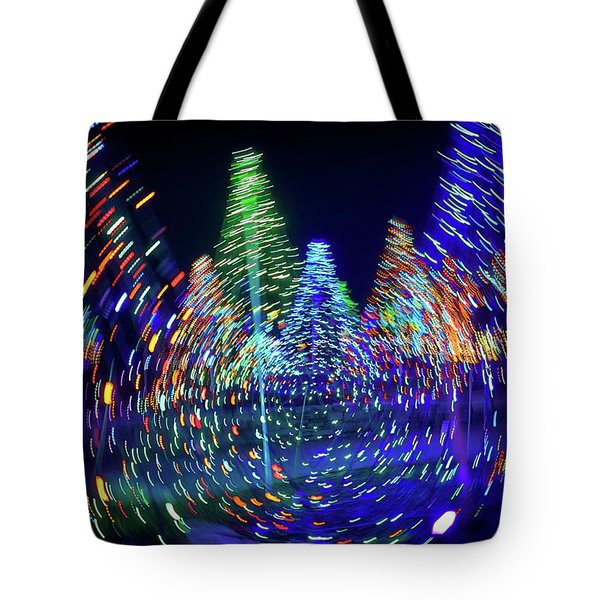 Holidays Aglow Tote Bag by Rick Berk