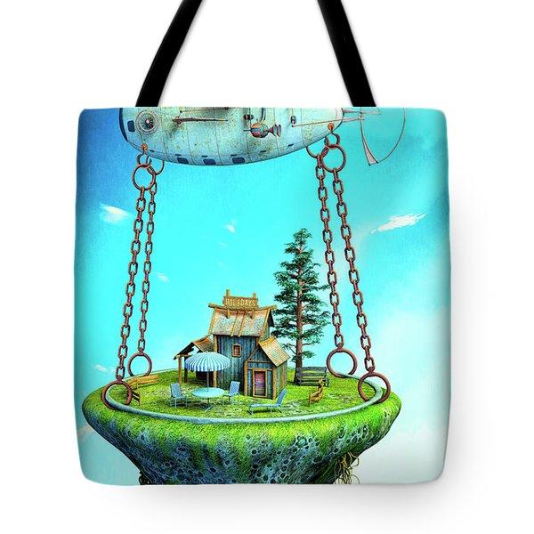 Holidays Tote Bag by Jutta Maria Pusl