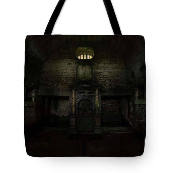 Hollinshead Hall Well House Tote Bag by Steev Stamford