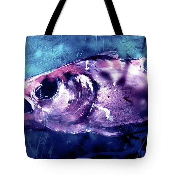 Tote Bag featuring the digital art Hollow Eyed Predator by Jim Vance