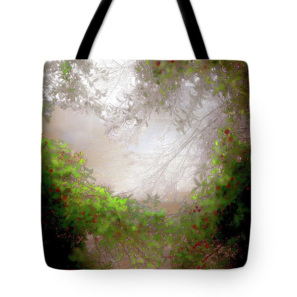 Tote Bag featuring the photograph Holly Heart by Bonnie Willis