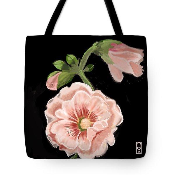 Hollyhock Tote Bag