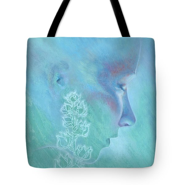 Tote Bag featuring the painting Hollyhock by Ragen Mendenhall
