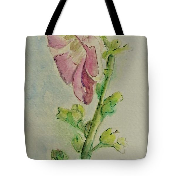 Hollyhock The Harbinger Of Summer Tote Bag