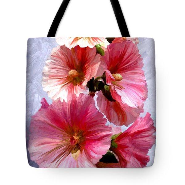 Hollyhocks Tote Bag by James Shepherd