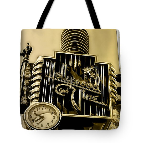 Hollywood And Vine Street Sign Collection Tote Bag by Marvin Blaine