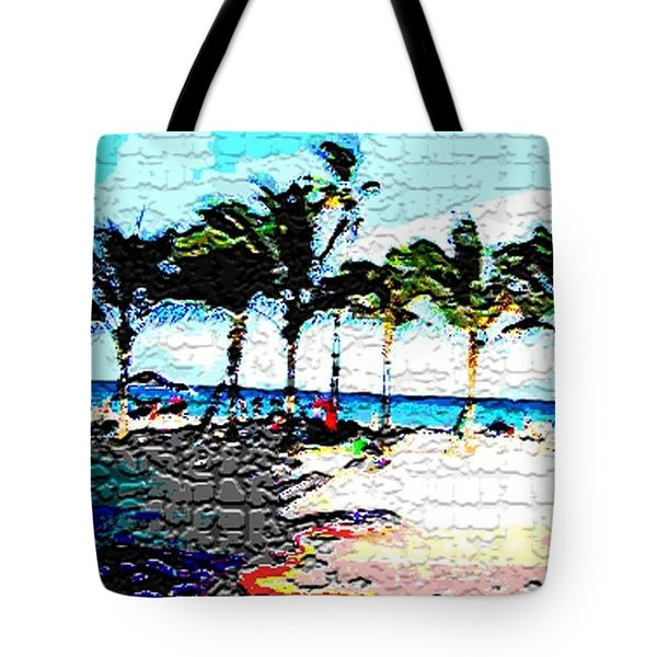 Hollywood Beach Fla Digital Tote Bag
