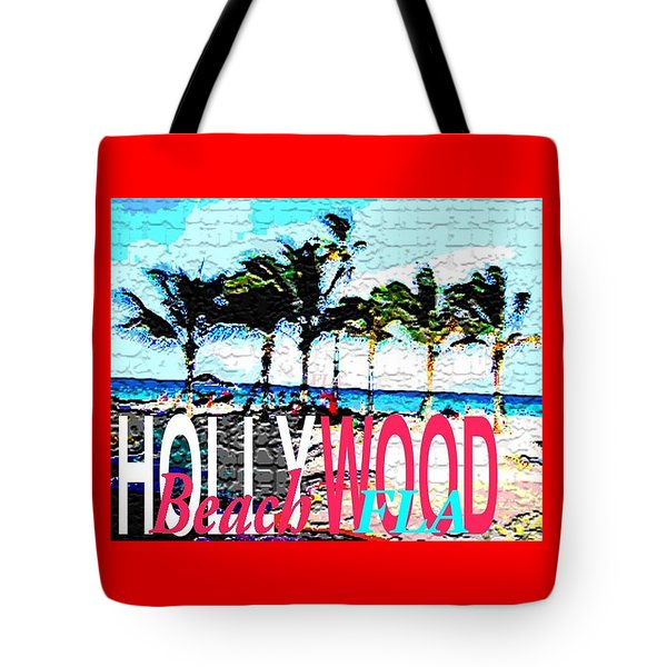 Hollywood Beach Fla Poster Tote Bag