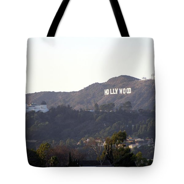Hollywood Hills And Griffith Observatory Tote Bag