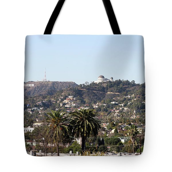 Hollywood Hills From Sunset Blvd Tote Bag