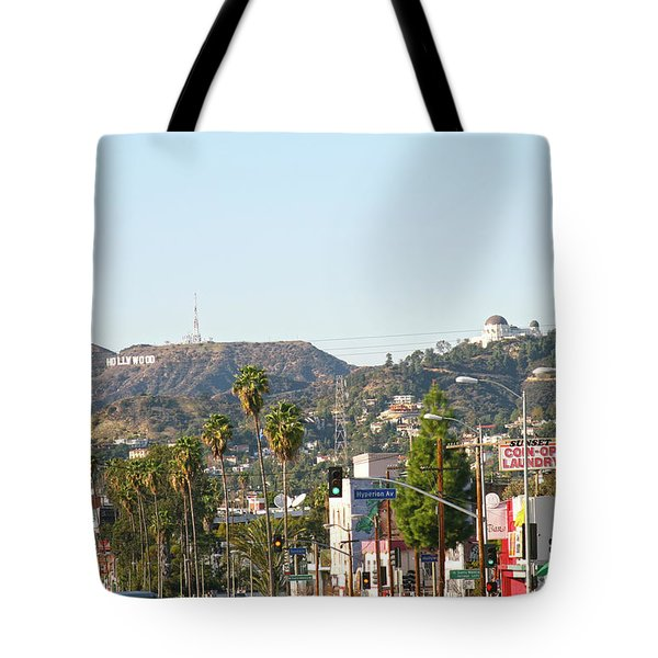 Hollywood Sign Above Sunset Blvd. Tote Bag