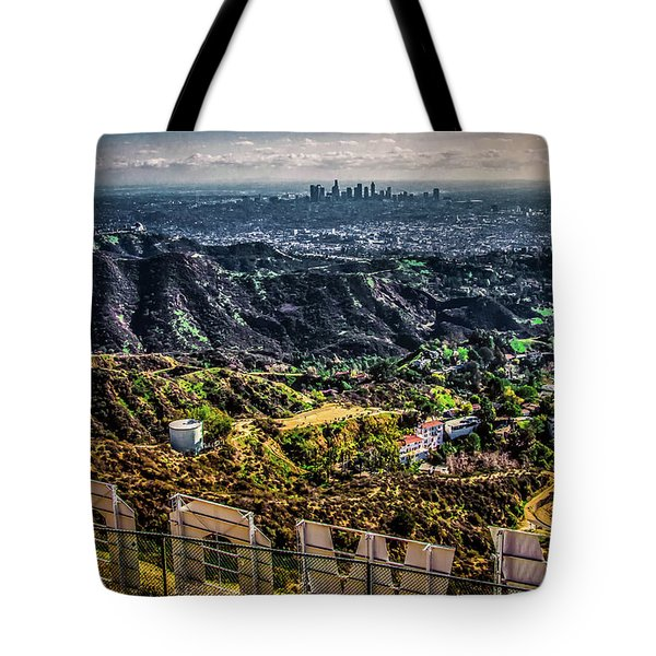Tote Bag featuring the photograph Behind The Sign by April Reppucci