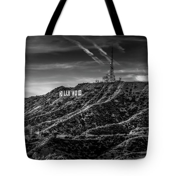 Hollywood Sign - Black And White Tote Bag