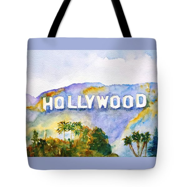 Hollywood Sign California Tote Bag