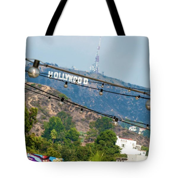 Tote Bag featuring the photograph Hollywood Sign On The Hill 1 by Micah May