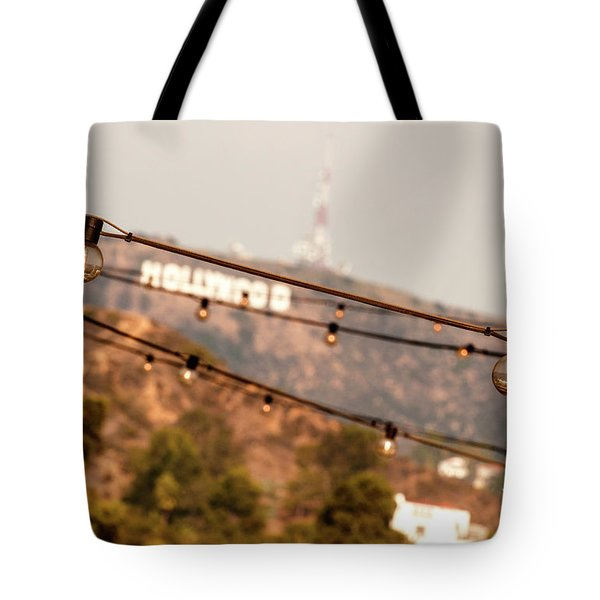 Tote Bag featuring the photograph Hollywood Sign On The Hill 2 by Micah May
