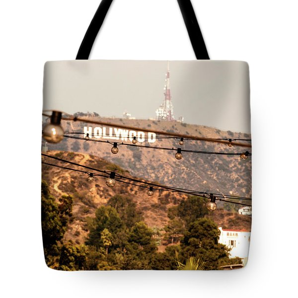 Tote Bag featuring the photograph Hollywood Sign On The Hill 3 by Micah May