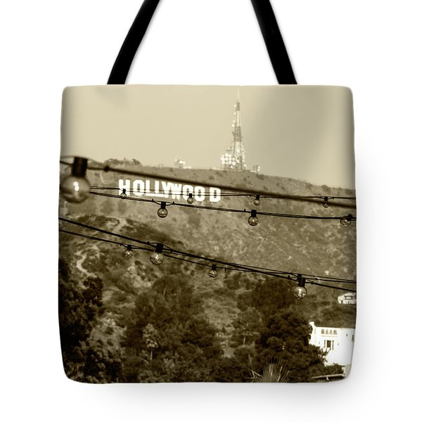 Tote Bag featuring the photograph Hollywood Sign On The Hill 4 by Micah May