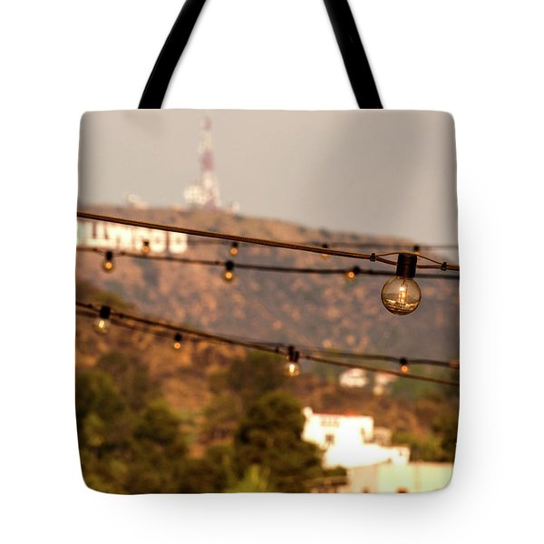 Tote Bag featuring the photograph Hollywood Sign On The Hill 5 by Micah May