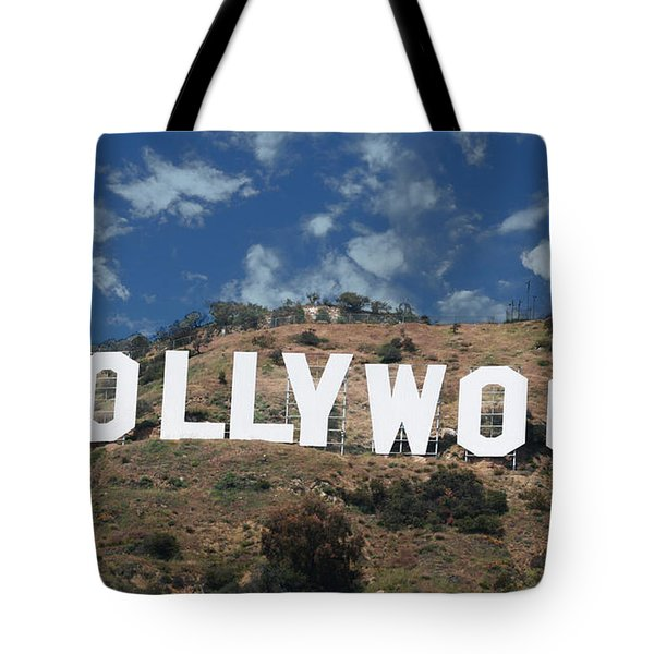 Tote Bag featuring the photograph Hollywood Sign by Robert Hebert