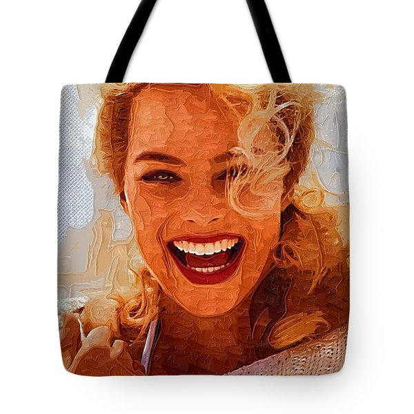 Hollywood Star Margot Robbie Tote Bag by Best Actors