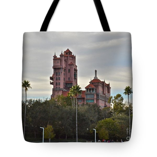 Hollywood Studios Tower Of Terror Tote Bag by Carol  Bradley