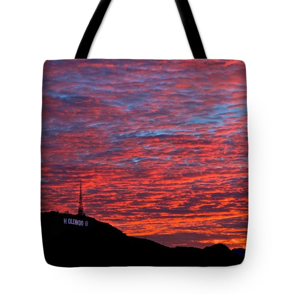 Tote Bag featuring the photograph Hollywood Sunrise by Kim Wilson