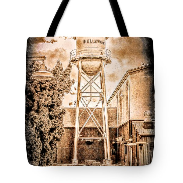 Hollywood Water Tower Tote Bag