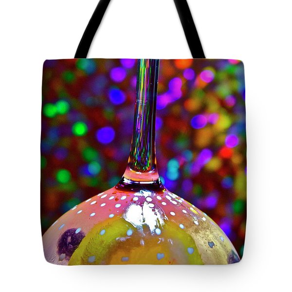 Tote Bag featuring the photograph Holographic Fruit Drop by Xn Tyler