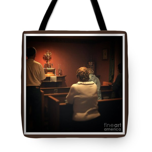 Holy Adoration Altar Tote Bag
