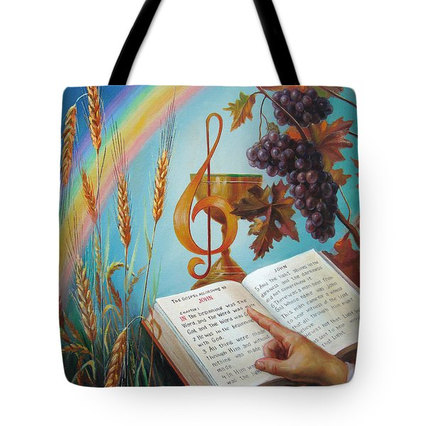 Holy Bible - The Gospel According To John Tote Bag