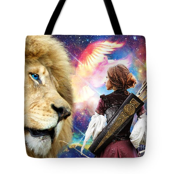 Tote Bag featuring the digital art Holy Calling by Dolores Develde
