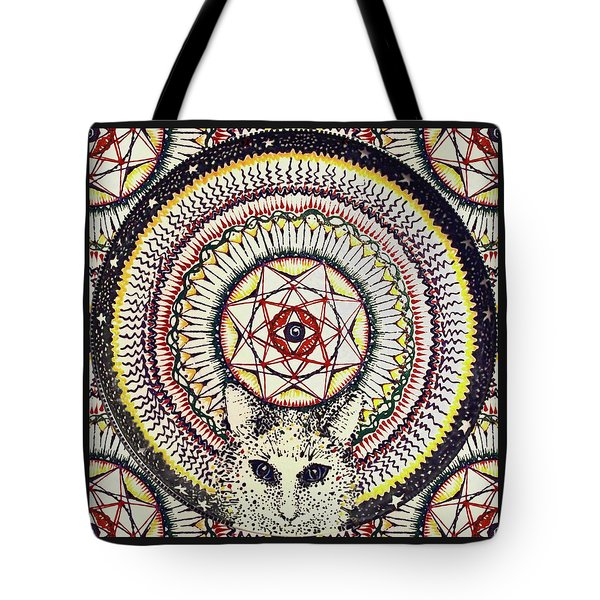 Tote Bag featuring the painting Holy Cat by Kym Nicolas