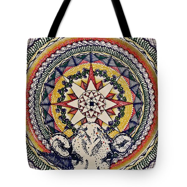 Tote Bag featuring the painting Holy Cow by Kym Nicolas