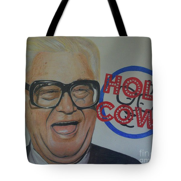 Tote Bag featuring the drawing Holy Cow by Melissa Goodrich
